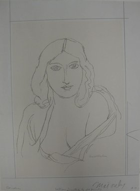 Walt Kuhn (American, 1877-1949). <em>Cornelia</em>, n.d. Lithograph on white wove paper, Sheet: 17 1/16 x 12 5/8 in. (43.3 x 32.1 cm). Brooklyn Museum, Gift of Dr. William H. Fox, 28.34. © artist or artist's estate (Photo: Brooklyn Museum, CUR.28.34.jpg)