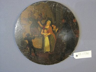 <em>Small Oval Painting</em>, 18th century. Wood, paint, diameter: 3 3/4 in. (9.5 cm). Brooklyn Museum, Gift of Frank L. Babbott, 29.1276. Creative Commons-BY (Photo: Brooklyn Museum, CUR.29.1276.jpg)