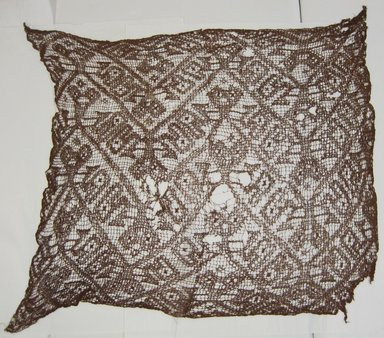 Chancay. <em>Headcloth</em>, 1000-1532. Cotton, 34 3/4 x 30 in. (88.3 x 76.2 cm). Brooklyn Museum, Museum Collection Fund, 29.1312.26. Creative Commons-BY (Photo: Brooklyn Museum, CUR.29.1312.26.jpg)
