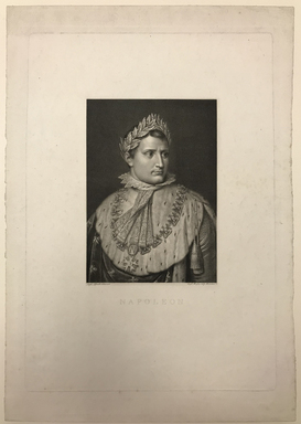 Rafaello Morghen (Italian, 1758-1833). <em>Napoleon</em>. Engraving on wove paper, 20 1/8 × 14 5/16 in. (51.1 × 36.4 cm). Brooklyn Museum, Bequest of Marion Reilly, 29.96 (Photo: , CUR.29.96.jpg)
