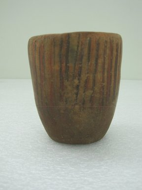 Wari/Chancay. <em>Cup</em>. Ceramic, pigment, 4 x 3 1/2 x 3 1/2 in. (10.2 x 8.9 x 8.9 cm). Brooklyn Museum, Museum Collection Fund, 30.1049. Creative Commons-BY (Photo: Brooklyn Museum, CUR.30.1049.jpg)