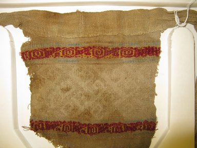 Possibly Chimú. <em>Loincloth</em>, 1000-1532. Cotton, camelid fiber, 21 5/8 x 6 11/16 in. (55 x 17 cm). Brooklyn Museum, Museum Collection Fund, 30.1064. Creative Commons-BY (Photo: Brooklyn Museum, CUR.30.1064_detail.jpg)