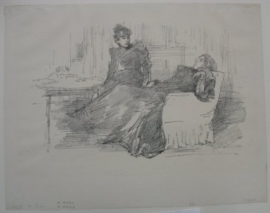 James Abbott McNeill Whistler (American, 1834-1903). <em>The Sisters</em>, 1894. Lithograph, 8 3/16 x 11 1/4 in. (20.8 x 28.6 cm). Brooklyn Museum, Frank Sherman Benson Fund, 30.1115 (Photo: Brooklyn Museum, CUR.30.1115.jpg)