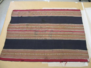 Aymara. <em>Shawl</em>, 1830-1850. Camelid fiber, 35 x 44 1/2 in. (88.9 x 113 cm). Brooklyn Museum, Alfred T. White Fund, 30.1165.15. Creative Commons-BY (Photo: Brooklyn Museum, CUR.30.1165.15.jpg)