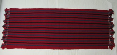 <em>Shawl</em>, early 20th century. Cotton, 21 x 57 in. (53.3 x 144.8 cm). Brooklyn Museum, Alfred T. White Fund, 30.1165.16. Creative Commons-BY (Photo: Brooklyn Museum, CUR.30.1165.16.jpg)