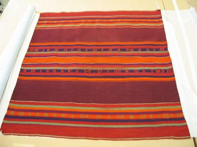 Aymara. <em>Carrying Cloth with Alphabet Design</em>, early 20th century. Camelid fiber, 34 x 36 in. (86.4 x 91.4 cm). Brooklyn Museum, Alfred T. White Fund, 30.1165.18. Creative Commons-BY (Photo: Brooklyn Museum, CUR.30.1165.18.jpg)