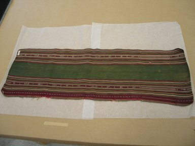 <em>Textile Fragment</em>, early 20th century. Camelid fiber, 10 1/2 x 33 in. (26.7 x 83.8 cm). Brooklyn Museum, Alfred T. White Fund, 30.1165.2. Creative Commons-BY (Photo: Brooklyn Museum, CUR.30.1165.2.jpg)