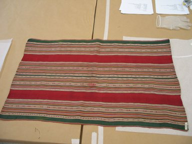 Aymara. <em>Shawl</em>, 19th or 20th century. Camelid fiber, 22 x 37 in. (55.9 x 94 cm). Brooklyn Museum, Alfred T. White Fund, 30.1165.26. Creative Commons-BY (Photo: Brooklyn Museum, CUR.30.1165.26.jpg)