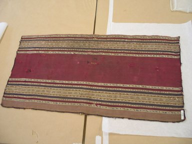 Aymara. <em>Shawl, One Half</em>, 19th or early 20th century. Camelid fiber, 18 x 34 in. (45.7 x 86.4 cm). Brooklyn Museum, Alfred T. White Fund, 30.1165.27. Creative Commons-BY (Photo: Brooklyn Museum, CUR.30.1165.27.jpg)