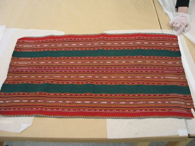 Aymara. <em>Shawl</em>, 20th century. Camelid fiber, 19 1/2 x 34 1/2 in. (49.5 x 87.6 cm). Brooklyn Museum, Alfred T. White Fund, 30.1165.28. Creative Commons-BY (Photo: Brooklyn Museum, CUR.30.1165.28.jpg)