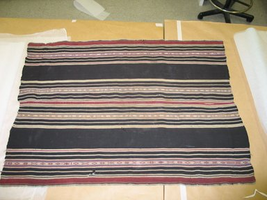 Aymara. <em>Shawl</em>, 19th century. Camelid fiber, 31 1/2 x 42 in. (80 x 106.7 cm). Brooklyn Museum, Alfred T. White Fund, 30.1165.30. Creative Commons-BY (Photo: Brooklyn Museum, CUR.30.1165.30.jpg)