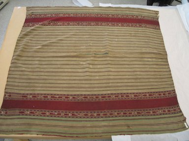 Aymara. <em>Tan and Red Poncho</em>, early 20th century. Camelid fiber, 48 x 49 in. (121.9 x 124.5 cm). Brooklyn Museum, Alfred T. White Fund, 30.1165.4. Creative Commons-BY (Photo: Brooklyn Museum, CUR.30.1165.4.jpg)