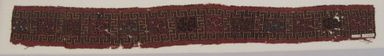Ica. <em>Mantle, Border?, Fragment or Textile Fragment, Border</em>, 1000-1532. Cotton, camelid fiber, 4 9/16 × 40 13/16 in. (11.6 × 103.7 cm). Brooklyn Museum, Gift of George D. Pratt, 30.1182. Creative Commons-BY (Photo: , CUR.30.1182.jpg)