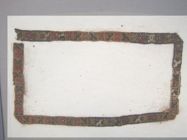 Nazca-Wari. <em>Belt or Textile Fragment</em>, 200-1000. Cotton, camelid fiber, 1 x 50 3/8 in. (2.5 x 128.0 cm). Brooklyn Museum, Gift of George D. Pratt, 30.1187.2. Creative Commons-BY (Photo: Brooklyn Museum, CUR.30.1187.2.jpg)