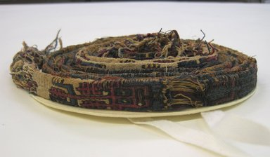 Nazca-Wari. <em>Headband</em>, 200-1000. Cotton, camelid fiber, 13/16 x 142 15/16 in. (2 x 363 cm). Brooklyn Museum, Gift of George D. Pratt, 30.1198. Creative Commons-BY (Photo: Brooklyn Museum, CUR.30.1198.jpg)