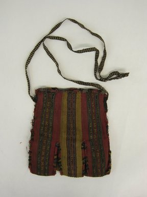 Nazca-Wari. <em>Bag</em>, 200-1400 C.E. (possibly). Camelid fiber, 7 1/2 x 7 1/16 in. (19 x 18 cm). Brooklyn Museum, Gift of George D. Pratt, 30.1209. Creative Commons-BY (Photo: Brooklyn Museum, CUR.30.1209_view1.jpg)