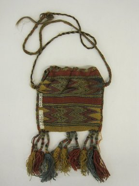 Nazca-Wari. <em>Bag</em>, 200-1000. Camelid fiber, 5 7/8 x 10 5/8 in. (15 x 27 cm). Brooklyn Museum, Gift of George D. Pratt, 30.1214. Creative Commons-BY (Photo: Brooklyn Museum, CUR.30.1214_view1.jpg)