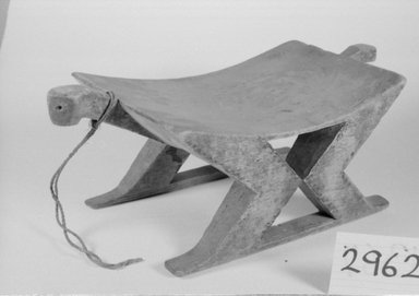 <em>Long Stool, Carved in One Piece</em>. Wood Brooklyn Museum, Museum Expedition 1930, Robert B. Woodward Memorial Fund and the Museum Collection Fund, 30.1366. Creative Commons-BY (Photo: Brooklyn Museum, CUR.30.1366_bw.jpg)