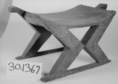 <em>Stool, Carved in One Piece</em>. Wood Brooklyn Museum, Museum Expedition 1930, Robert B. Woodward Memorial Fund and the Museum Collection Fund, 30.1367. Creative Commons-BY (Photo: Brooklyn Museum, CUR.30.1367_bw.jpg)