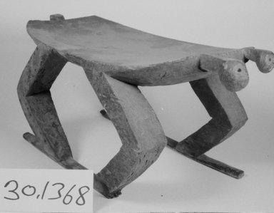 <em>Stool, Carved in One Piece</em>. Wood Brooklyn Museum, Museum Expedition 1930, Robert B. Woodward Memorial Fund and the Museum Collection Fund, 30.1368. Creative Commons-BY (Photo: Brooklyn Museum, CUR.30.1368_bw.jpg)