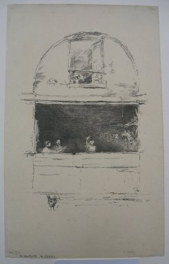 James Abbott McNeill Whistler (American, 1834-1903). <em>The Forge-Passage du dragon</em>, 1894. Lithograph, 8 11/16 x 6 1/8 in. (22.1 x 15.6 cm). Brooklyn Museum, Frank Sherman Benson Fund, 30.1479 (Photo: Brooklyn Museum, CUR.30.1479.jpg)