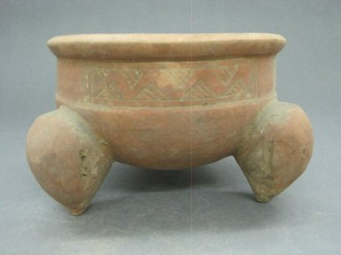 <em>Tripod Bowl</em>, 200-500. Ceramic, 3 7/8 x 7 x 6 1/2 in. (9.8 x 17.8 x 16.5 cm). Brooklyn Museum, Gift of Mrs. Minor C. Keith in memory of her husband, 31.1070. Creative Commons-BY (Photo: Brooklyn Museum, CUR.31.1070.jpg)
