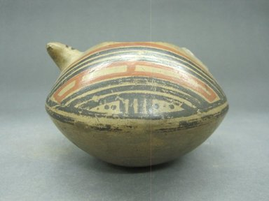 <em>Jar</em>, 1000-1550. Ceramic, pigment, 3 3/16 x 5 1/4 x 4 13/16 in. (8.1 x 13.3 x 12.2 cm). Brooklyn Museum, Gift of Mrs. Minor C. Keith in memory of her husband, 31.1202. Creative Commons-BY (Photo: Brooklyn Museum, CUR.31.1202_view1.jpg)