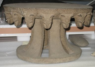 <em>Metate or Stool</em>, 1000-1300. Volcanic stone, 12 11/16 x 21 1/2 x 21 7/16 in. (32.2 x 54.6 x 54.5 cm). Brooklyn Museum, Gift of Mrs. Minor C. Keith in memory of her husband, 31.1690. Creative Commons-BY (Photo: Brooklyn Museum, CUR.31.1690.jpg)