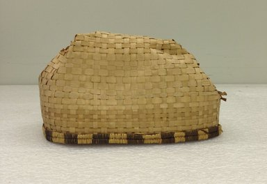 Budu. <em>Plaited cap</em>, early 20th century. Vegetal fiber, 5 x 8 1/4 in.  (12.7 x 21 cm). Brooklyn Museum, Museum Expedition 1931, Robert B. Woodward Memorial Fund, 31.1881. Creative Commons-BY (Photo: Brooklyn Museum, CUR.31.1881_overall.jpg)