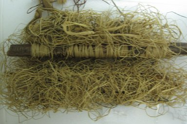 Budu. <em>Child's Grass Loom</em>, early 20th century. Cane sticks, raffia fiber, 10 5/8 x 12 3/16 in. (27 x 31 cm). Brooklyn Museum, Museum Expedition 1931, Robert B. Woodward Memorial Fund, 31.1934. Creative Commons-BY (Photo: Brooklyn Museum, CUR.31.1934_overall.jpg)