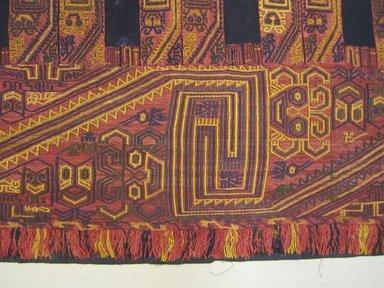 Paracas. <em>Mantle</em>, 100 B.C.E.-600 C.E. Cotton, camelid fiber, 100 x 42 15/16 in.  (254.0 x 109.0 cm). Brooklyn Museum, Carll H. de Silver Fund, 32.106. Creative Commons-BY (Photo: , CUR.32.106_view03.jpg)