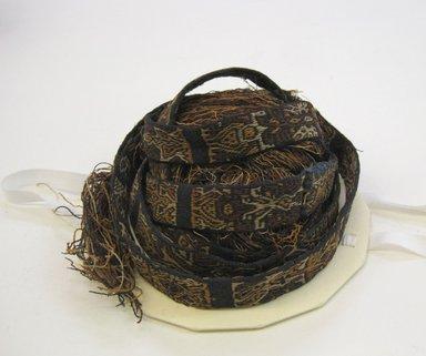 Nazca-Wari. <em>Headband</em>, 200-1000. Camelid fiber, 13/16 x 168 7/8 in. (2 x 429 cm). Brooklyn Museum, Gift of George D. Pratt, 32.1451. Creative Commons-BY (Photo: Brooklyn Museum, CUR.32.1451.jpg)