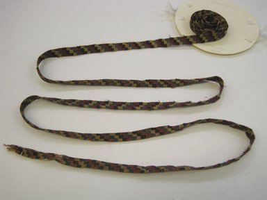 Nazca-Wari. <em>Belt or Headband</em>, 200-1000. Camelid fiber, 1/2 x 71 5/8 in. (1.3 x 182 cm). Brooklyn Museum, Gift of George D. Pratt, 32.1452. Creative Commons-BY (Photo: Brooklyn Museum, CUR.32.1452.jpg)