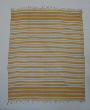 Possibly Berber. <em>Textile</em>, 20th century. Cotton, 50 1/2 x 38 x 3/16 in. (128.3 x 96.5 x 0.4 cm). Brooklyn Museum, Gift of Nina L. Franklin, 32.1775. Creative Commons-BY (Photo: Brooklyn Museum, CUR.32.1775_overall.jpg)