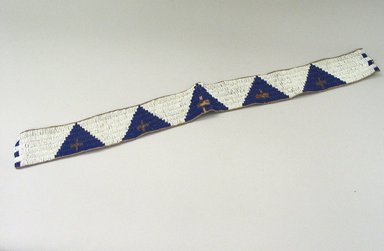 Blackfoot. <em>Beaded Strip</em>. Beads Brooklyn Museum, Bequest of W.S. Morton Mead, 32.2099.32567. Creative Commons-BY (Photo: Brooklyn Museum, CUR.32.2099.32567_view1.jpg)