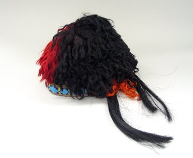 Blackfoot. <em>Beaded Headdress</em>. Beads, hair, paint Brooklyn Museum, Bequest of W.S. Morton Mead, 32.2099.32578. Creative Commons-BY (Photo: Brooklyn Museum, CUR.32.2099.32578_view1.jpg)