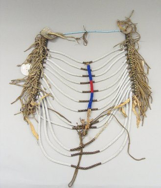 Blackfoot. <em>Man's Necklace</em>, 20th century. Bead, bone Brooklyn Museum, Bequest of W.S. Morton Mead, 32.2099.32580. Creative Commons-BY (Photo: Brooklyn Museum, CUR.32.2099.32580_view1.jpg)