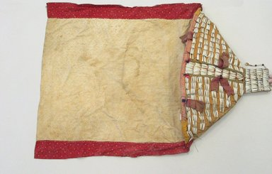 Sioux. <em>Soft Cradle</em>, ca. 1875-1900. Cotton, beads, dentalium shells, cotton thread, silk ribbon Brooklyn Museum, Bequest of W.S. Morton Mead, 32.2099.32589. Creative Commons-BY (Photo: Brooklyn Museum, CUR.32.2099.32589_view1.jpg)