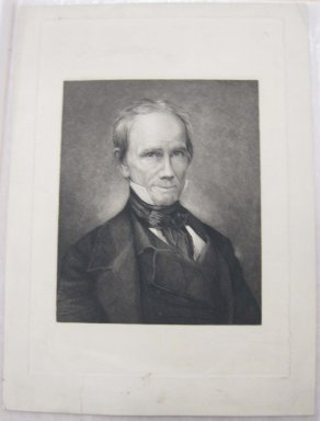 Thomas Johnson (American, born England, 1843-1904). <em>Henry Clay</em>, ca. 1880. Etching and drypoint on laid down China paper, Sheet: 14 13/16 x 10 13/16 in. (37.6 x 27.5 cm). Brooklyn Museum, Gift of Spencer Bickerton, 33.359 (Photo: Brooklyn Museum, CUR.33.359.jpg)