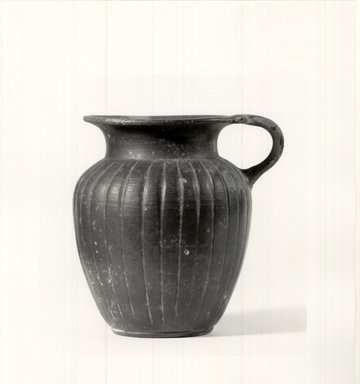 Etruscan. <em>Jug</em>, 7th-6th century B.C.E. Terracotta, 4 3/4 in. (12.1 cm). Brooklyn Museum, Frederick Loeser Fund, 33.400. Creative Commons-BY (Photo: Brooklyn Museum, CUR.33.400_print_NegA_bw.jpg)
