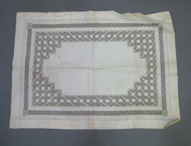 <em>Cover</em>. Linen, 23 1/4 x 32 1/4 in. (59.1 x 81.9 cm). Brooklyn Museum, Gift of Theodora Wilbour, 33.48.15. Creative Commons-BY (Photo: Brooklyn Museum, CUR.33.48.15.jpg)