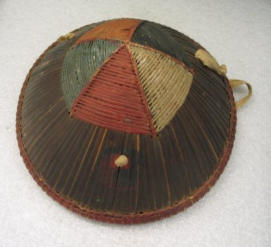 <em>Hat</em>, late 19th century. Bamboo, cotton, 8 11/16 x 11 13/16 x 11 1/2 in. (22 x 30 x 29.2 cm). Brooklyn Museum, Brooklyn Museum Collection, 34.1067. Creative Commons-BY (Photo: Brooklyn Museum, CUR.34.1067.jpg)