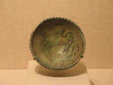 <em>Bowl</em>, ca. 1295-1185 B.C.E. Faience, 1 1/2 × Diam. 4 1/4 in. (3.8 × 10.8 cm). Brooklyn Museum, Charles Edwin Wilbour Fund, 34.1182. Creative Commons-BY (Photo: Brooklyn Museum, CUR.34.1182_wwg8.jpg)