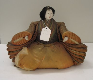 <em>Princess Doll (Ohinasama)</em>. Silk, wood, porcelain, human hair, Other: 9 x 12 x 7in. (22.9 x 30.5 x 17.8cm). Brooklyn Museum, Brooklyn Museum Collection, 34.1325. Creative Commons-BY (Photo: Brooklyn Museum, CUR.34.1325_view1.jpg)