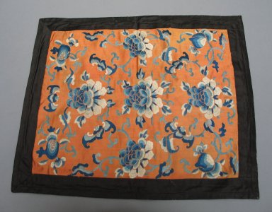 <em>Rectangular Mat</em>, 19th century. Satin silk, 11 13/16 x 16 15/16 in. (30 x 43 cm). Brooklyn Museum, Brooklyn Museum Collection, 34.1388. Creative Commons-BY (Photo: Brooklyn Museum, CUR.34.1388.jpg)