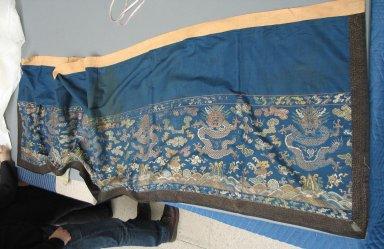 <em>Long Table Hanging</em>, 19th century. Cloth silk, twill? silk, 105 1/8 x 26 in. (267 x 66 cm). Brooklyn Museum, Brooklyn Museum Collection, 34.1455. Creative Commons-BY (Photo: Brooklyn Museum, CUR.34.1455.jpg)