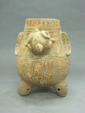 <em>Bird Effigy Vessel</em>, 1000-1350. Ceramic, pigment, 9 1/8 x 7 3/4 x 9 3/4 in. (23.2 x 19.7 x 24.8 cm). Brooklyn Museum, Alfred W. Jenkins Fund, 34.1727. Creative Commons-BY (Photo: Brooklyn Museum, CUR.34.1727_view1.jpg)