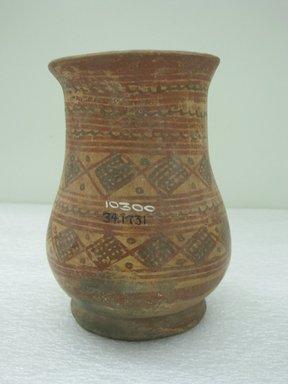 <em>Jar</em>, 800-1200. Ceramic, pigment, 6 3/4 x 5 x 5 in. (17.1 x 12.7 x 12.7 cm). Brooklyn Museum, Alfred W. Jenkins Fund, 34.1731. Creative Commons-BY (Photo: Brooklyn Museum, CUR.34.1731.jpg)
