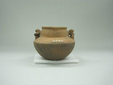 <em>Jar</em>, 1000-1520. Ceramic, 3 1/2 x 4 1/4 x 4 1/4 in. (8.9 x 10.8 x 10.8 cm). Brooklyn Museum, Alfred W. Jenkins Fund, 34.1756. Creative Commons-BY (Photo: Brooklyn Museum, CUR.34.1756_view1.jpg)
