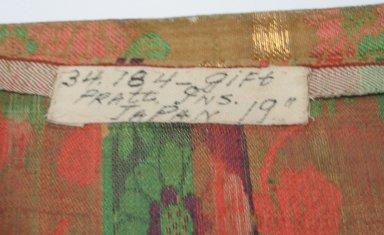 <em>Textile</em>. Brocade, 26 3/4 x 119 5/16 in. (68 x 303 cm). Brooklyn Museum, Gift of Pratt Institute, 34.184. Creative Commons-BY (Photo: Brooklyn Museum, CUR.34.184_detail1.jpg)